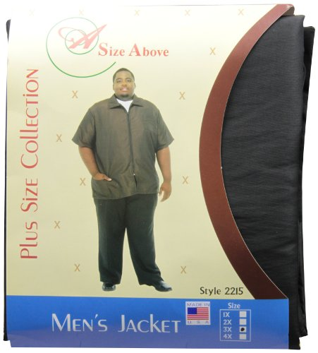 (A Size Above Big & Tall Barber Jacket, Black, 3X)