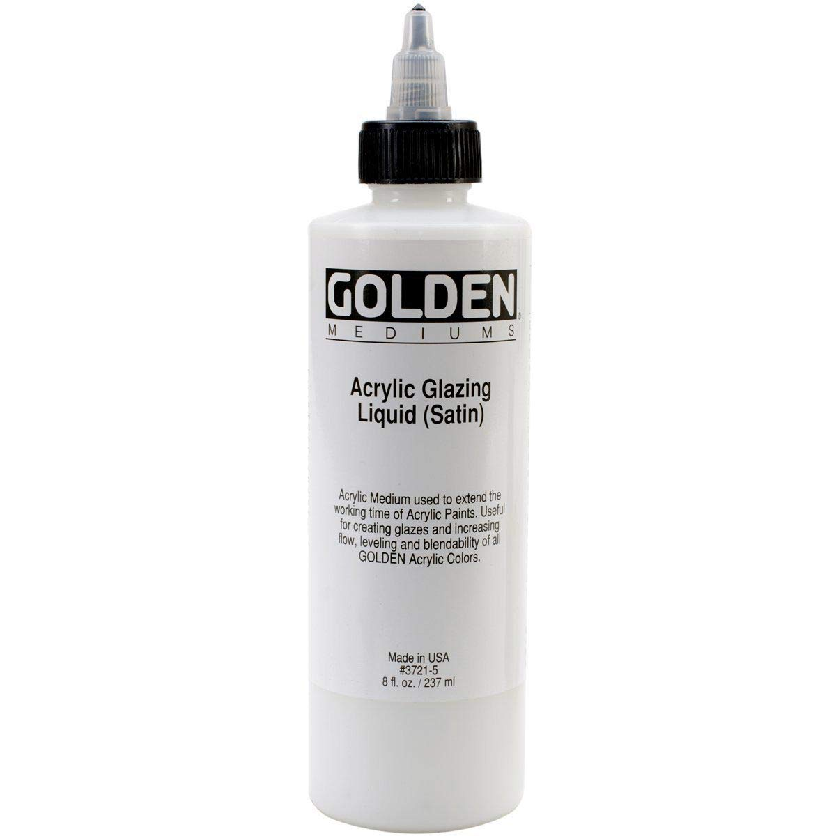 Golden Acryl Med 16 Oz Glaze Liquid Satin