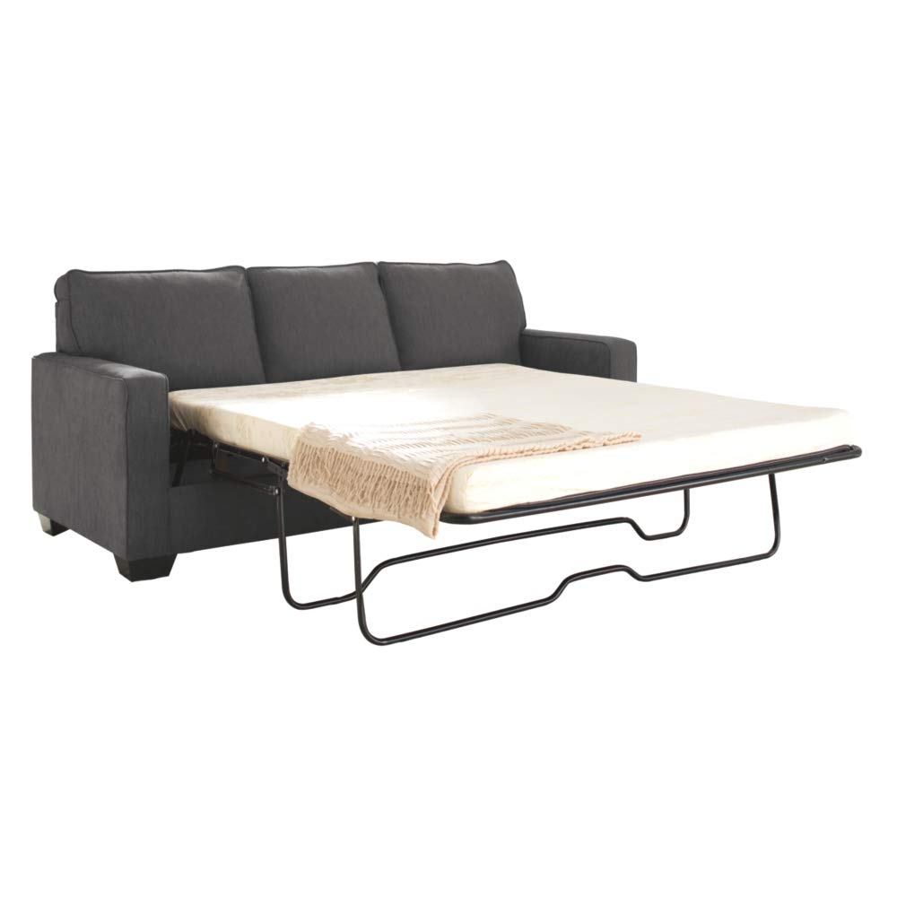 Ashley Furniture Signature Design - Zeb Sleeper Sofa - Contemporary Style Couch - Queen Size - Charcoal by Signature Design by Ashley