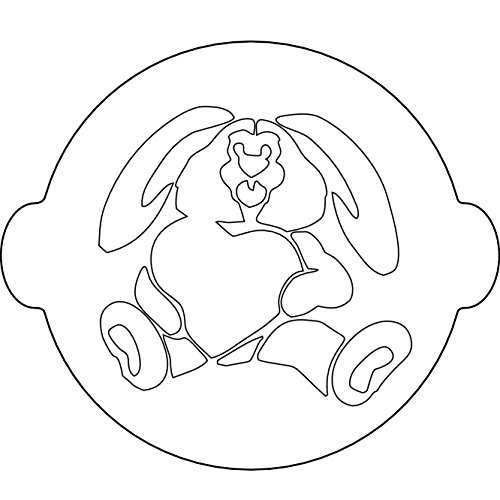 Silikomart Stencil for Cake Decoration Bunny, White