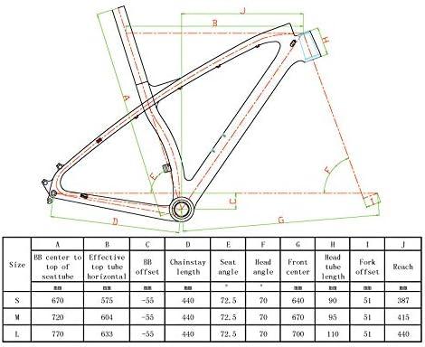 NXXML Cuadro de Fibra de Carbono Ultraligero, Cuadro de Bicicleta ...
