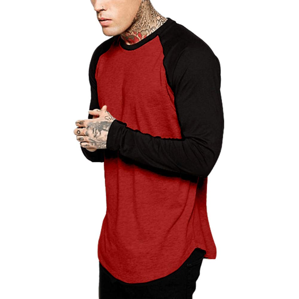 Amazon.com: Easytoy Mens Casual Slim Fit Long Sleeve Raglan Jersey Shirt Hipster Hip Hawthorne Baseball Muscle Tee T-Shirt: Health & Personal Care