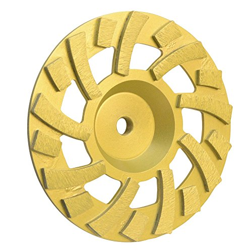 PROLINEMAX 7'' x 5/8''-11mm Super Turbo Hard Concrete Grinding Diamond Cup Wheel 18 (7' Diamond Grinding Wheel)