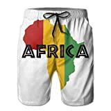 SOURCE POINT Men's Rasta Africa Map Summer Beach Shorts Leisure Quick Dry Swimming Pants