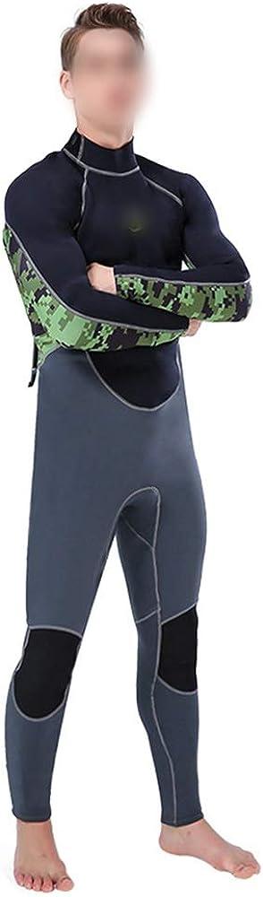 YUNRIYA 長袖ワンピースダイビングスーツ男性2 mm日焼け止めサーフスノーケリング弾性スーツ暖かい防水母服 グレー M