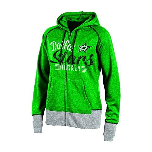 Knights Apparel NHL Dallas Stars Women's Hooded Fleece Jacket, X-Small, Green Heather