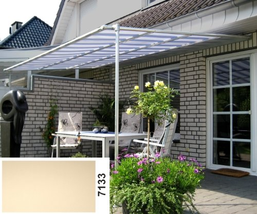 Vlexy Standard Leco Terrassenüberdachung in creme