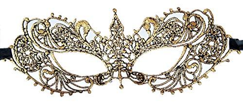 Coolwife Women's Venetian Crochet Ball Lace Masquerade Mask Halloween Fashion (Sharp Corners (Adult Diamond Jester Costumes)