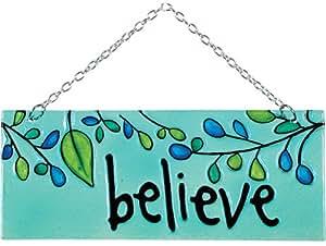 Premier Kites 81139 Glass Expression Hanging Banner, Believe