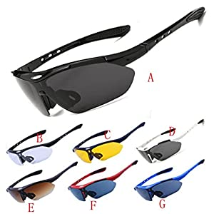 Hometom Polarized Sports Sunglasses, Men Women Cycling Running Driving Fishing Golf Baseball Glasses