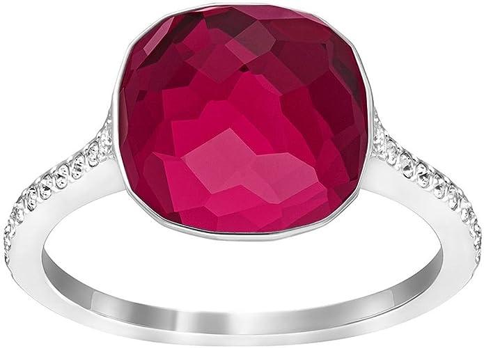 Bague Rouge Dot Cristal Swarovski: Amazon.fr: Bijoux