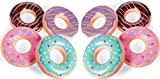Fun Express Inflatable Donuts - 12 pack - Donut party and pool party decorations (15 inch)