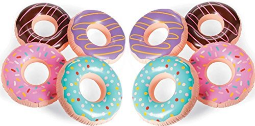 (Fun Express Inflatable Donuts - 12 pack - Donut party and pool party decorations (15 inch))