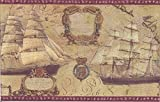 The Village Company 5812135 Dishes Wallpaper Border, Bronze