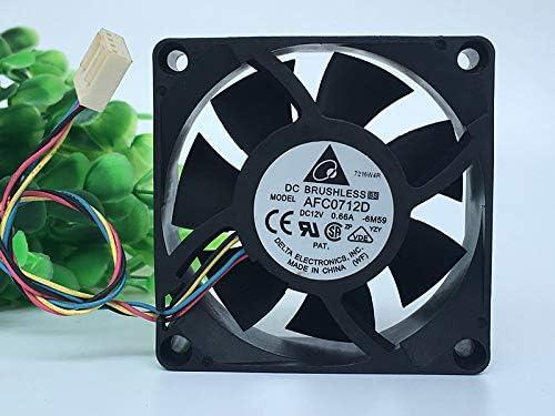 for Delta AFC0712D 7025 7CM 12V 0.66A CPU Temperature Control Fan Ball air Volume Fan