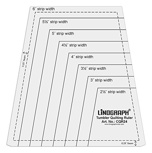 Linograph Clear Acrylic Tumbler Quilting Ruler One-Patch Templates by LINOGRAPH