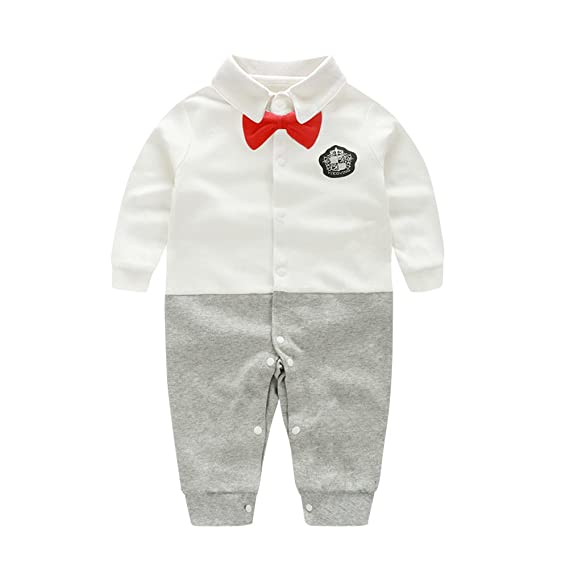 48c291775 Fairy Baby Baby Boy Outfits Gentleman Formal Outfit Long Sleeve Clothes:  Amazon.co.uk: Clothing
