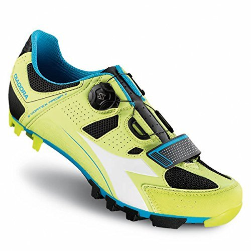 Diadora Men's X-Vortex Racer II Mountain Biking Shoe - 170224-C6035 (Lime Punch/Blue Fluo - (Pro Carbon Mountain Bike Shoe)