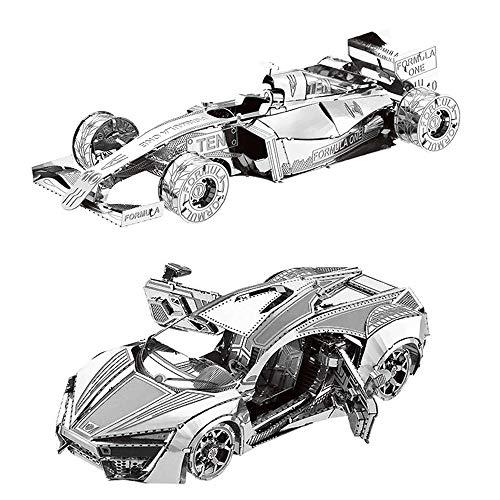 MOTU 2pcs 3D Metal Puzzle Hyper Sport Vehicle + Formula car F101 Model Kits DIY 3D Laser Cut Jigsaw Toys I31126 I21120