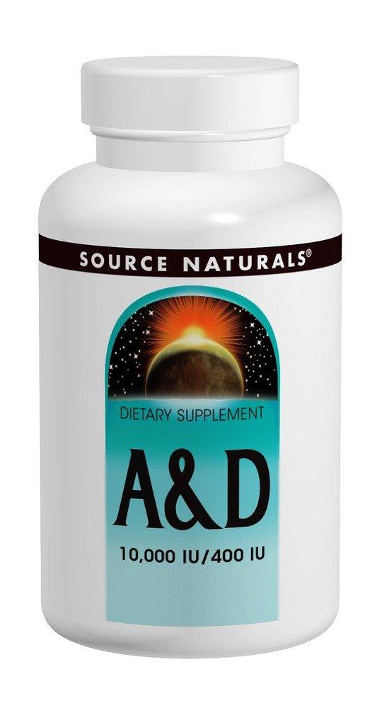 Source Naturals Vitamin A and D 10,000IU/400IU, 250 Tablets