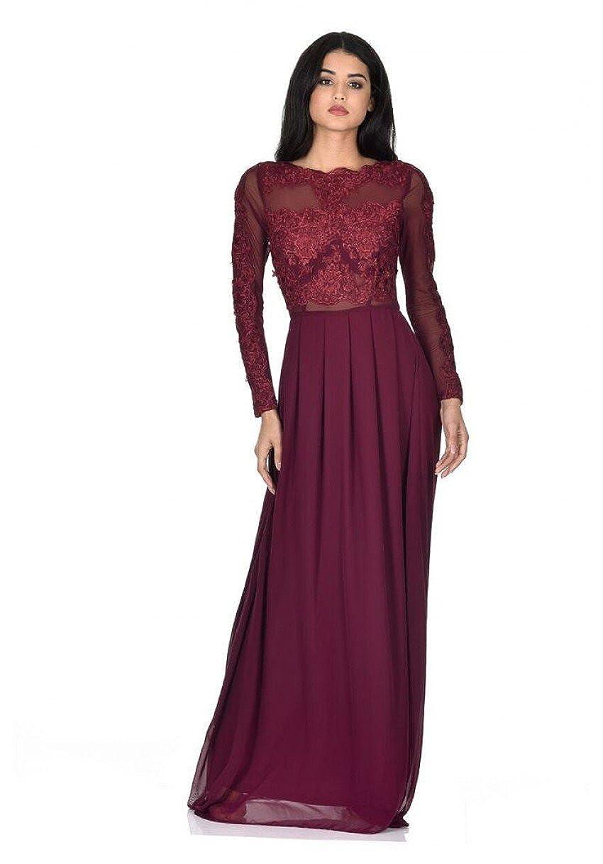 AX Paris Womens Long Sleeve Maxi Dress