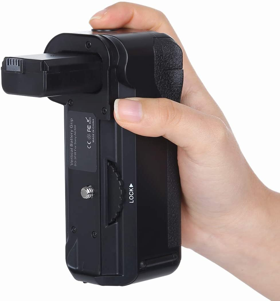 Vertical Camera Battery Grip for Sony A6300 Digital SLR Camera Durable
