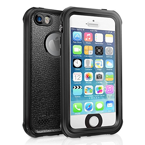 Price comparison product image Waterproof iPhone SE 5S 5 Case, SHARKCASE Shockproof Full-Sealed Heavy Duty Protective Case, IP68 Certificated Water Shock Dust Snow Proof Hard Cover for iPhone SE 5S 5 - Black