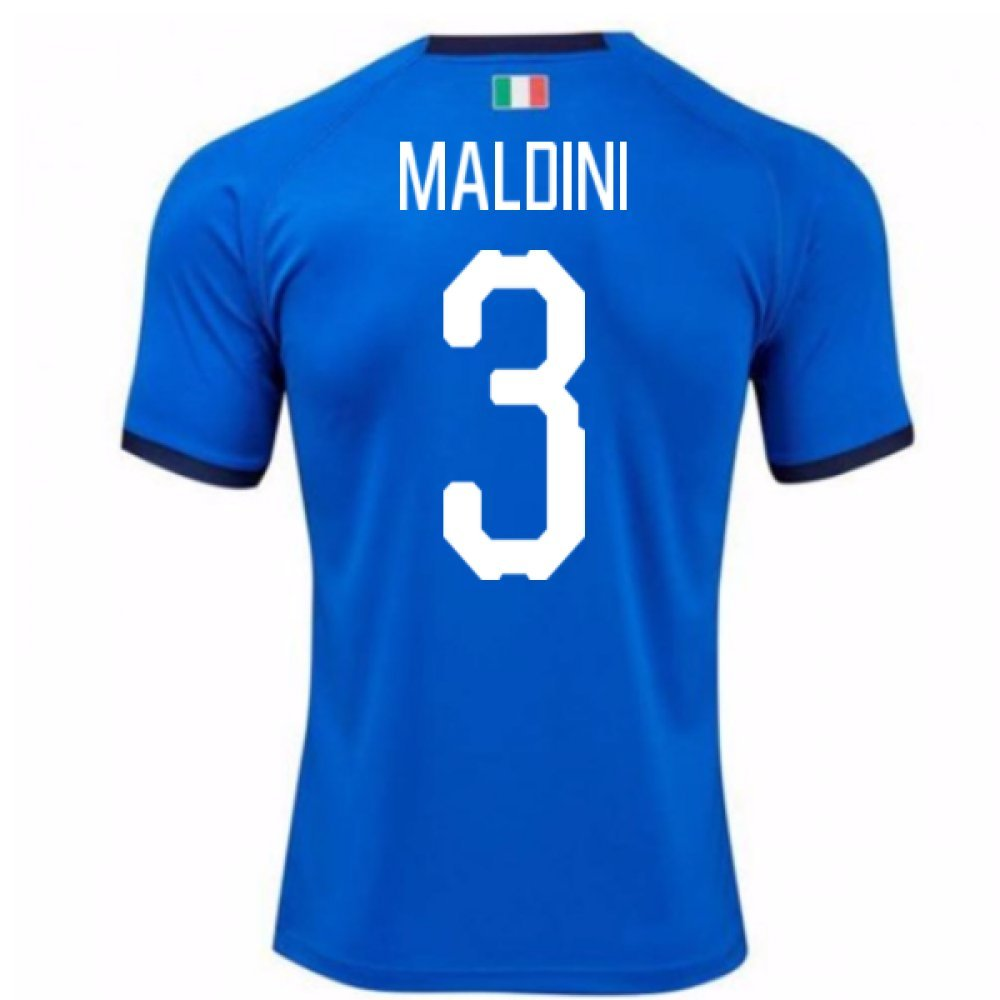 2018-19 Italy Home Shirt (Maldini 3) Kids B077PJYHYSBlue XL Boys 32-34\