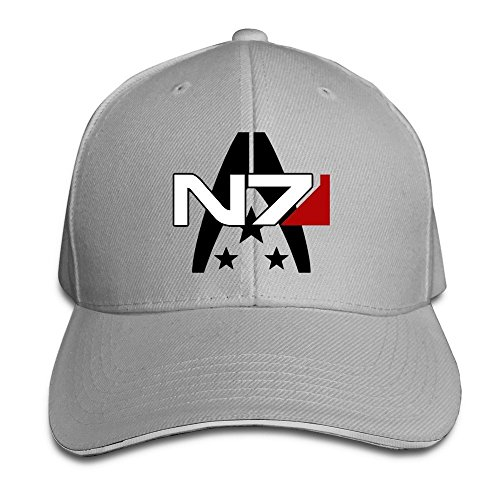 Screen Print Cap Embroidered - BOoottty Mass Effect Alliance N7 Special Forces Flex Baseball Cap Ash