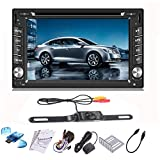 iMeshbean 6.2'' GPS Navigation HD Double 2 DIN Car Stereo DVD Player Bluetooth iPod MP3 TV 8 GB SD Card Include Card Reader Back Camera as Gift