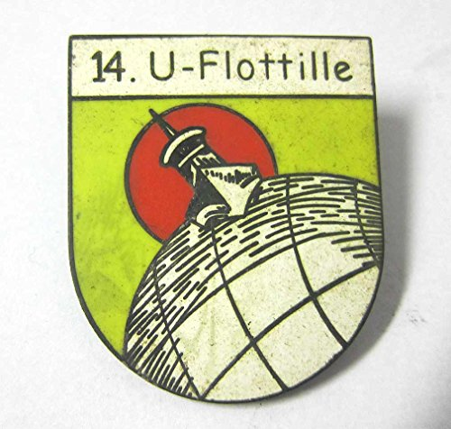 German U-Boat 14th Flotilla cap hat Badge Kriegsmarine for sale  Delivered anywhere in USA