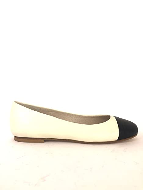 Mainapps Dd82 Shoes Made Zeta Bicolore Pelle Italy Ballerine In mwOynN80v