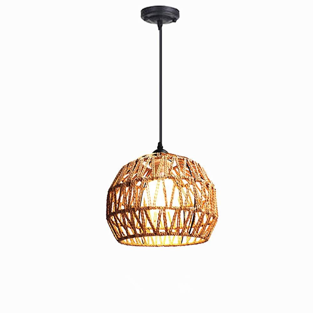 CCMFZD 1-lamp, Hemp Rope Chandelier Simple Round Chandelier Interior Chandelier E27 MDD-180/LED