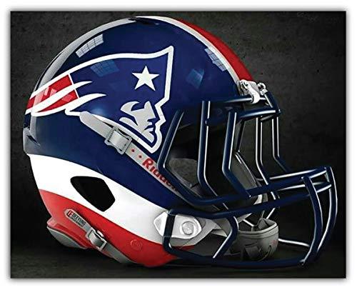 (Sport England Patriots NFL Helmet Logo Car Sticker Decal 5'' X 4'' )
