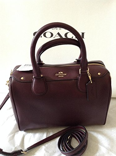 Coach-Crossgrain-Mini-Bennett-Satchel-F36624-Oxblood