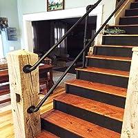Huoo Pasamanos Pasamanos for Escalera Exterior Cubierta, Escaleras Pasamanos con El Kit de Instalación, Escalera Pasamanos Suppor (Size : 150cm): Amazon.es: Hogar