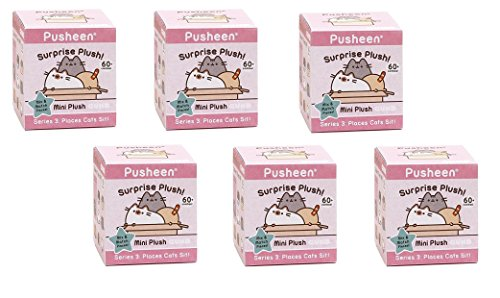 Gund Pusheen Blind Box Series #3 Surprise Plush 6-Pack Bundle (Seat Series 3 Box)