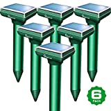 Apello 6 Pack Mole Repellent Solar Mole Repeller Gopher Repellent Ultrasonic Vole Repellant Rodent Deterrent No Mole Traps Gopher Killer Harm to Your Lawn