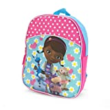 Disney Doc Mcstuffins 11 Inch Large Backpack - Printed with Lambie, Stuffy, Hallie and Chilly Characters
