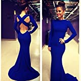 Leshery New Sexy Women Long Sleeve Prom Ball Cocktail Party Dress Formal Evening Gown (S)