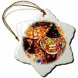 3dRose Danita Delimont - Lamps - UAE, Dubai, Traditional arabian Souvenir lamps - 3 inch Snowflake Porcelain Ornament (orn_277099_1)