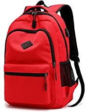 School Bag Waterproof Rucksack for Boys Girls Kids College Travel Laptop Backpack with USB Charging Port Casual Daypack