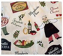 "Bistro Chef Indoor/Outdoor Flannel Backed Vinyl Tablecloth - 70"" Zipper Umbrella Round"