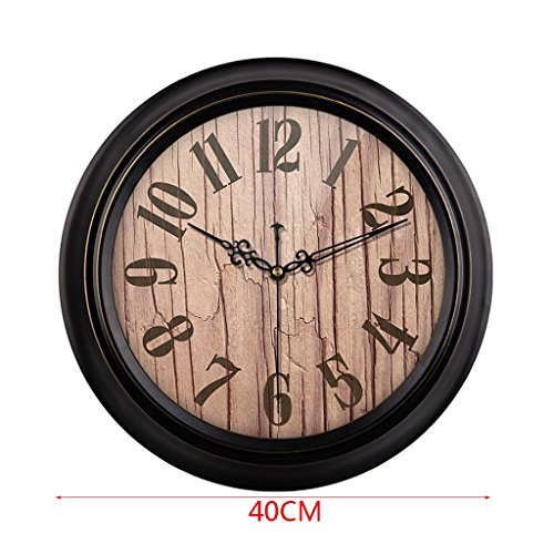 HAOFAY Mute Wall Clock, Vintage Pattern Arabic Numerals Round Clock (vintage) ( Size : 16 inches/40 cm ) by CLOCK (Image #1)