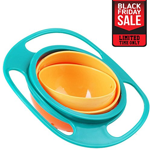 Pro Universal Gyro Bowl | Revolutionary Spill Proof Gyroscopic Bowl For Kids | Smooth 360 Degrees Rotation With Highly Durable Material | For Children Of All Ages | 1097 (Gyroscopic Bowl)
