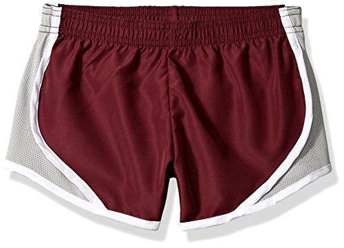 Soffe Girls' Big Team Shorty Short Poly, Maroon, Small