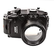 Fotga 40m 130ft Waterproof Underwater Diving Camera Housing Case for Sony A5000 with 16-50mm Lens Camera