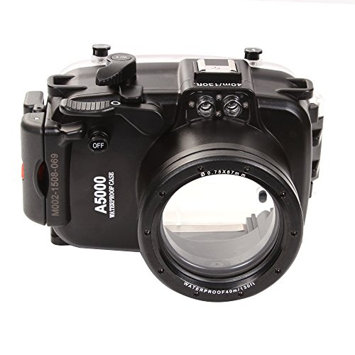 Fotga 40m 130ft Waterproof Underwater Diving Camera Housing Case for Sony A5000 with 16-50mm Lens Camera by MEIKON