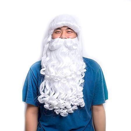 YUNDUO Peluca De Santa Y La Barba Papá Noel Ropa Navidad ...