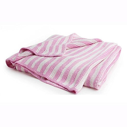 The COCALO COLLECTION Bamboo Pram Stroller Baby Blanket Pink Off-White - Cocalo Baby Pink Blanket